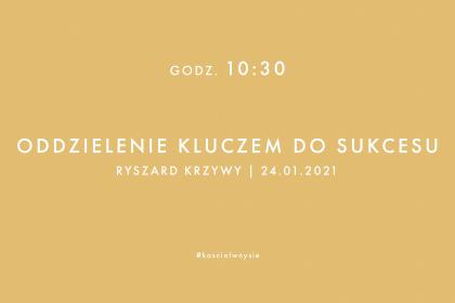 Nabożeństwo 24.01.2021